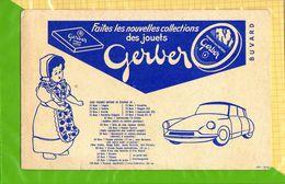 BUVARD  :  Fromage GERBER Faites Les Nouvelles Collections De Jouets Citroen  DS19   POUPEE - Dairy
