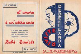 """07232 """"RIVISTE DEDE' DI LANDA - AL MODERNISSIMO (BOLOGNA) DA LUNEDI' 7 OTTOBRE 1936 - XIII""""  LOCANDINA ORIG. - Posters"""
