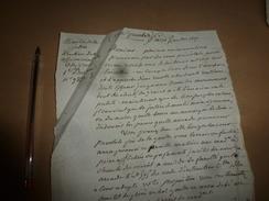 1817 Lettre Cour Prévotale (Affaires Criminelles): La Sévérité Exemplaire à L'approche De La Chereté Doit S'adoucir ;etc - Manuscrits