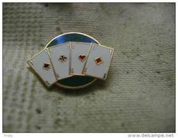 Pin's De La Règle Des 4 As. Jeu De Cartes, Les 4 As Sur La Table - Games
