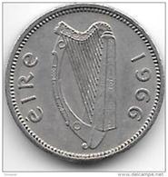 Ireland  3 Pence   1966  Km 12a    Xf+ - Irlande