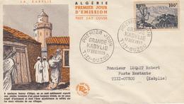 Enveloppe  FDC  1er  Jour  ALGERIE   GRANDE  KABYLIE   TIZI  -  OUZOU   1955 - Algérie (1924-1962)