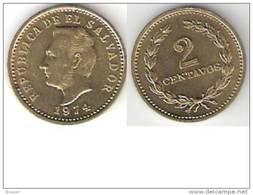 El Salvador 2 Centavos 1974 Km 147   Unc !!!!!!!! - Salvador