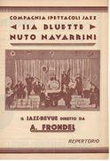 """07233 """"COMPAGNIA SPETTACOLI JAZZ - ISA BLUETTE / NUTO NAVARRINI - IL JAZZ REVUE DIRETTO DA A. FRONDEL"""" LOCANDINA ORIG. - Posters"""