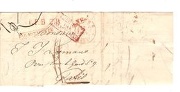 LAC(BMI) C.Anvers 17/1/1834 Pour Paris Griffes L.P.B.2 R.-Belgique Par Valenciennes&Par Estafette Port 11 PR5079 - 1830-1849 (Belgique Indépendante)