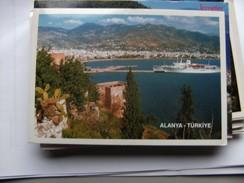 Turkije Turkey Alanya Panorama With Boat - Turkije