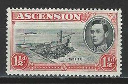 Ascension SG 40, Mi 43A * MH Perf. 13 1/2 - Ascension