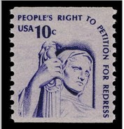 1977 USA 10c Americana Issues Coil Stamp Contemplation Of Justice Sc#1617 History Sculpture Post - Post