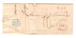 LAC(BMI) C.Anvers 22/10/1936 Pour Paris Griffes B.4.R.&Belgique Par Valenciennes Port 10 Avec Cours De La Bourse PR5080 - 1830-1849 (Belgique Indépendante)