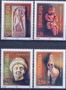 YU 1996-2799-801 ARCHEOLOGIA SCULPTURE, YUGOSLAVIA, 1 X 4v, MNH - Archéologie