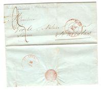 LAC(BMI) C.Gand 29/12/1840 Pour St.Nicolas C.d'arrivée Port 3 PR5081 - 1830-1849 (Belgique Indépendante)