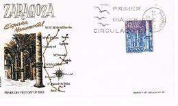 Spanien FDC 1876 Die Börse (Lonja) In Saragossa / Zaragoza - Architektur - FDC