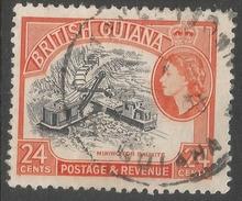 British Guiana. 1963-65 QEII. 24c Used. Block CA W/M SG 360 - British Guiana (...-1966)