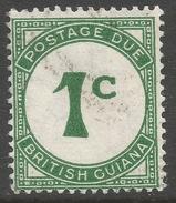 British Guiana. 1940-55 Postage Due. 1c Used. SG D1 - British Guiana (...-1966)