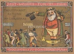 Victorian Greeting Card Father Christmas  Good Cheer For  Christmas  Egc110 - Old Paper