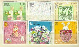 Hong Kong 2007 Bunny Fun & Games Set Of 6 MNH - 1997-... Région Administrative Chinoise