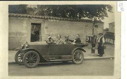 "248 ""TORPEDO ANNI 30 E DISTRIBUTORE BENZINA SAP - FRANCIA ""  -  FOTO ORIGINALE  . - Automobili"