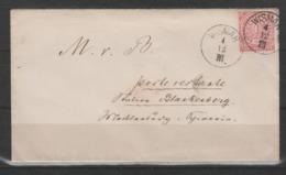 Norddeutscher Bund Fernbrief EF 16 Ab Wismar/4.12 Nach Blankenberg - Norddeutscher Postbezirk