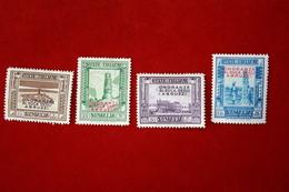 SOMALIA  - DUCA ABRUZZI - 4 VALORI - 1934 -   LINGUELLATO - Somalia