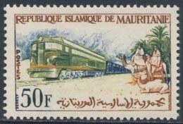 Mauritanie Mauritania 1962 Mi 196 YT 161 * Diesel Mineral Train / Erzzug, Kamelreiter Erzbahn Zouérate-Port-Étienne - Treinen