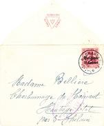 026/26 - FRANC MACONNERIE BELGIQUE - Enveloppe TP Germania CHARLEROI 1916 - Symbole Maçonnique S/ Le Rabat - Freemasonry