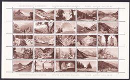"""Switzerland Ca. 1945 Reklamemarken """"Schweizerische Alpenposten / Postes Alpestres Suisses / Poste Aplpine Svizzere"""" ** - Portofreiheit"""