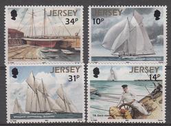 Jersey 1987 Set Of 4, Schooner Westward - Unmounted Mint NHM - Jersey