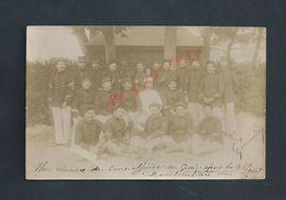MILITARIA CARTE PHOTO MILITAIRE GROUPE DE SOLDATS SOUS OFFICIER DU GENIE LIRE PARLE DE MONTPELLIER : - Characters