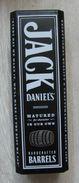 AC - JACK DANIEL'S AMERICAN WHITE OAK BARRELS OLD NO#7 BRAND TENNESSEE SOUR MASH WHISKEY EMPTY TIN BOX BLIK FROM TURKEY - Dosen