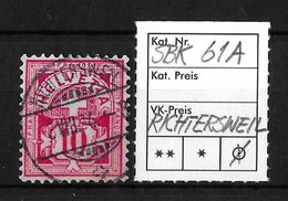 1882-1889 ZIFFERMUSTER FASERPAPIER FORM A  → SBK-61A  ►RICHTERSWEIL◄ - 1882-1906 Coat Of Arms, Standing Helvetia & UPU