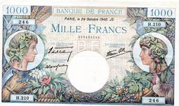 """1000 F """"COMMERCE ET INDUSTRIE"""" (Type 1940) - 24/10/1940  (sup) - 1871-1952 Circulated During XXth"""