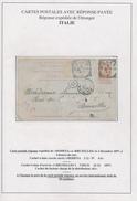 034/26 - Entier Postal Fine Barbe - REPONSE De MODENA ( Cachet Cercle Carré) 1897 Vers Bruxelles - Entiers Postaux