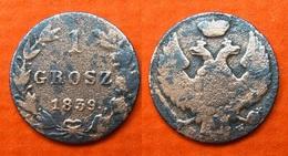 Polen-Nikolaus I 1 Grosch 1839 M-W Seltene Variante ! Kupfer     (R546) - Polonia