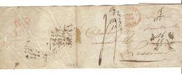 BMI(LAC) C.Anvers 20/4/1843 Pour Lessines C.d'arrivée Port 4 PR5088 - 1830-1849 (Belgique Indépendante)