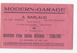 MODERN GARAGE Vincennes Tecalémit - Automobilismo