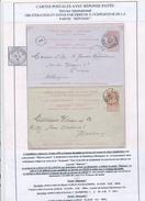 036/26 - Entier Postal Fine Barbe Avec REPONSE - ERREUR D'Annulation à LIEGE 1896 Et Envoi Vers L' Expéditeur !!! - Entiers Postaux