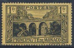 Monaco 1925 Mi 97 YT 95 * MH - Sainte Dévote Railway Viaduct / Viadukt Bei Der Kirche Sainte-Dévote - Treinen