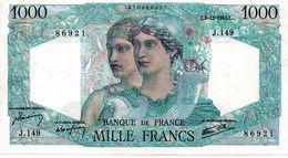 """1000 F """"MINERVE ET HERCULE"""" (Type 1940) - 6/12/1945  (sup) - 1871-1952 Anciens Francs Circulés Au XXème"""