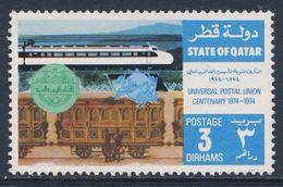 """Qatar 1974 Mi 592 YT 235 ** Early Mail Wagon + Japanese """"Hikari""""express Train / Schnellzug, Postwagen 1840 - Treinen"""