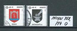 ESTLAND MICHEL 758,774 Gestempelt Siehe Scan - Estonia