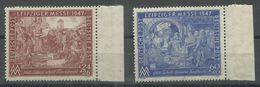 """Gemeinschaftsausgaben 941/942IIBA""""Briefmarkensatz Leipziger Messe 47 Stichtiefdruck, Gez;K13 1/4:13"""" Postfrisch Mi.:3,00 - Zone Soviétique"""