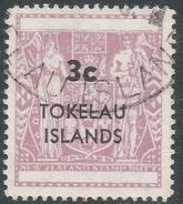 Tokelau Islands. 1967 Decimal Currency. Fiscal Stamps Of New Zealand Overprinted. 3c Used. SG 12 - Tokelau