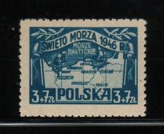 POLAND 1946 MARINERS DAY MARTIME FESTIVAL OF HM Sailing Ships Maps Polish Coastline Sea Maps Swieto Morza Sailors - Schiffe