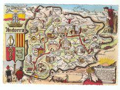 ANDORRE CARTE DES VILLAGES - Andorra