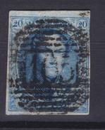 N° 7 Margé BDF   Demi Lettres En Filigrane - 1851-1857 Médaillons (6/8)