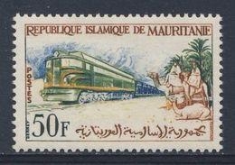 Mauritanie Mauritania 1962 Mi 196 YT 161 * MH - Diesel Mineral Train / Erzzug, Kamelreiter Erzbahn Zouérate-Port-Étienne - Mauritanië (1960-...)