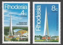 Rhodesia. 1978 Trade Fair Rhodesia, Bulawayo. MNH Complete Set SG 553-554 - Rhodesia (1964-1980)
