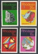 "Rhodesia. 1971 ""Granite '71"" Geological Symposium. MH Complete Set SG 465-468 - Rhodesia (1964-1980)"