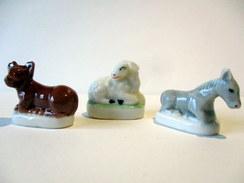 Fèves Brillantes - Crêche - Les Animaux De La Crêche (1), Les 3 - Animals