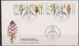 Berlin FDC 1984 MiNr.724 - 727 Wohlfahrt Orchideen ( D 5621 ) Günstige Versandkosten - Berlin (West)